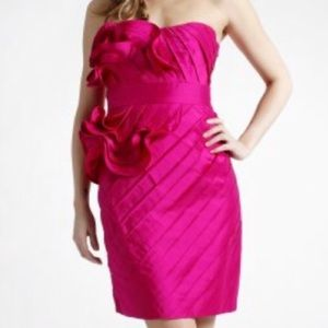 Phoebe Couture Red Cocktail Strapless Dress